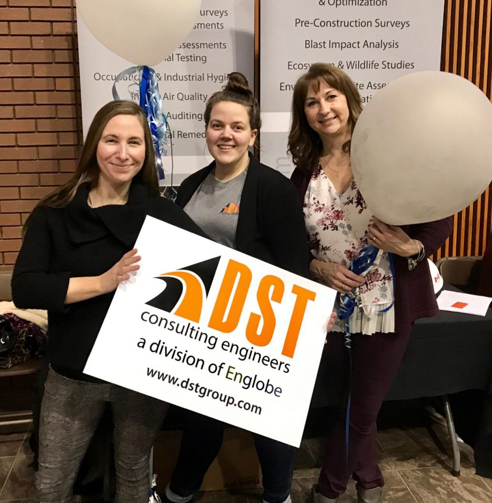 DST staff at the career fair